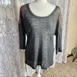 Alya Francesca's 3/4 Sleeve Top Size Small